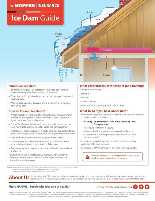 Ice Dam Causes and Prevention Summary